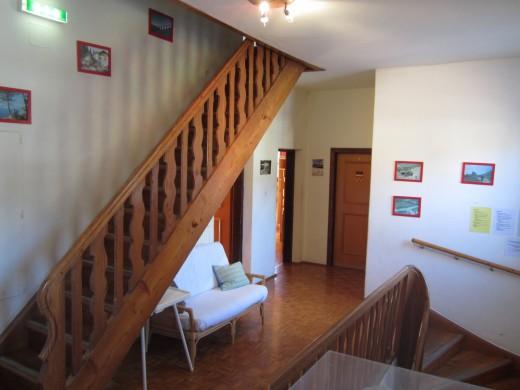 Hall and stairway to the third floor Deubler Heim Werfenweng